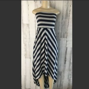 Free People Kristals Striped Maxi Strapless Dress